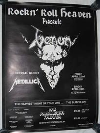 venom usa invasion poster 1983 metallica