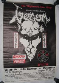 venom possessed tour 1985 concert poster