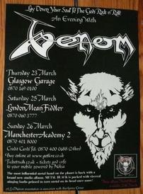 venom black metal tour poster 2006