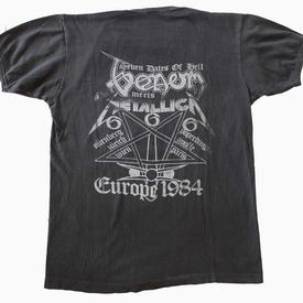 venom 7 dates of hell tour shirt 1984