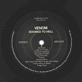 venom doomed to hell bootleg zwolle 1984