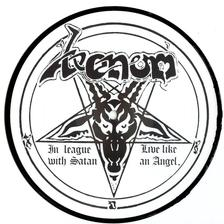 venom in leauge with satan picture disc