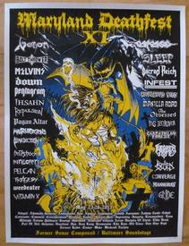 venom black metal tour poster