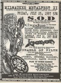 venom black metal milwaukke metalfest poster 1997
