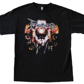 venom black metal skull hand shirt official shirt