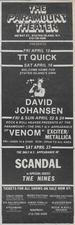 venom black metal usa invasion 1983 advert