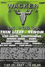 venom black metal wacken 2000 advert