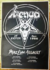 venom black metal collection brazil poster 1986