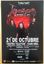 venom black metal chile 2017 concert advert poster