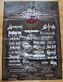 venom black metal fall of summer 2014 festival poster