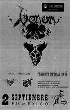venom black metal mexico live 2016