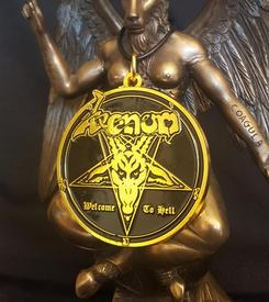 venom black metal gold medallion