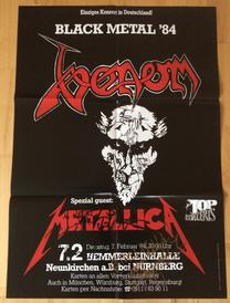 venom black metal nurnberg poster 1984 7 dates of helll tour