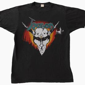 venom black metal USA tour shirt 1985