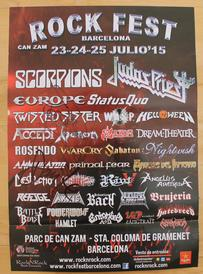 venom black metal rock fest barcelona 2015 poster