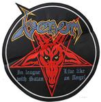 venom black metal patch round