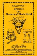 venom black metal slayer flyer 1985 tour