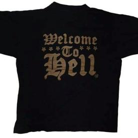 venom black metal welcome to hell shirt