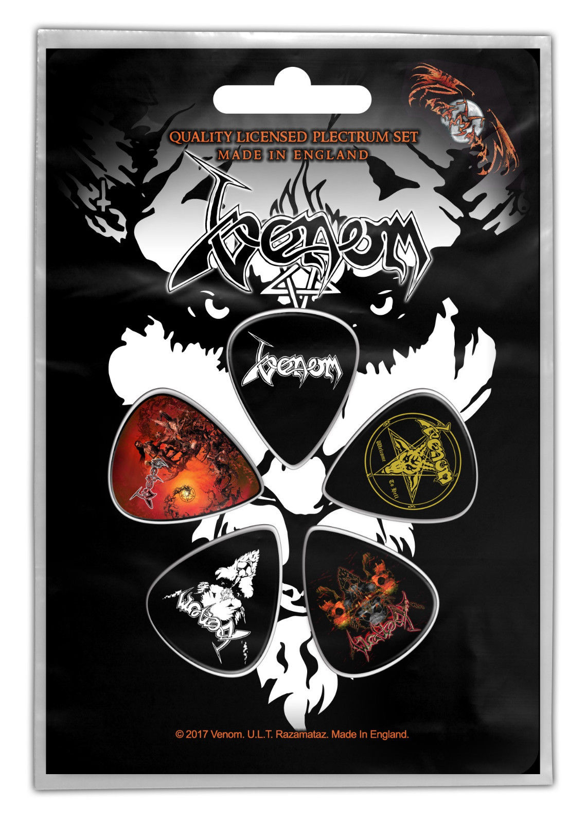 venom black metal collection homepage guitar picks plectrum
