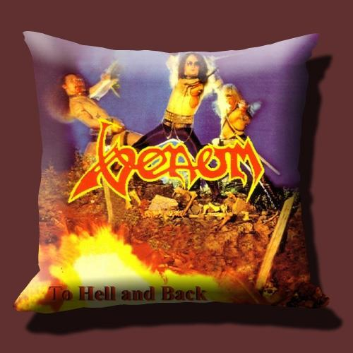 venom black metal cushion cover pillow