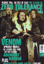 venom black metal zero tolerance magazine january 2015